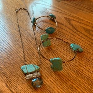 WORTH Turquoise Necklace & Bracelet Lot